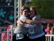 Kesta Congratulating one of our Couch to 3.1 finishers
